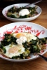 Baked eggs and spinach with za'atar
