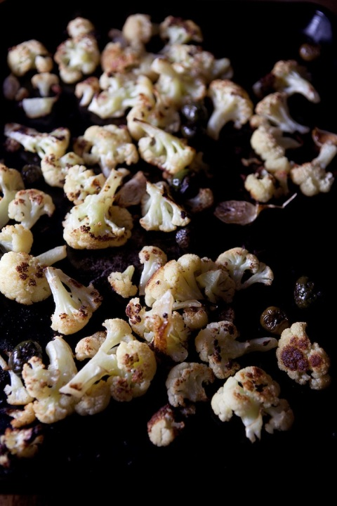 cauliflower olives roasted