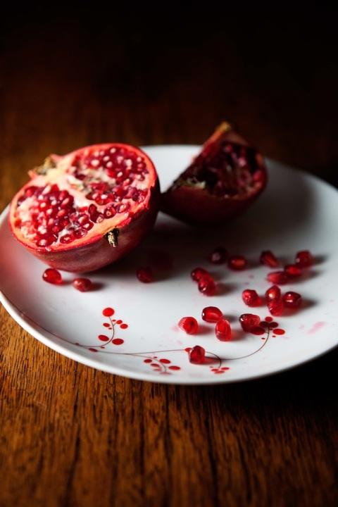 pomegranate halves
