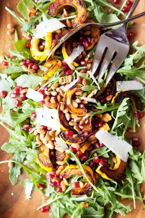 arugula delicata salad 1