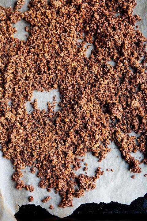 nutty granola baking sheet