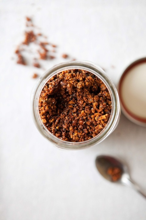 nutty granola jar
