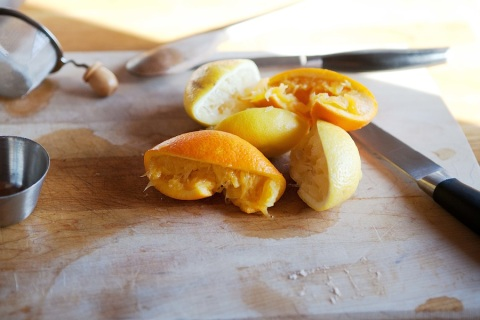 citrus peels from curd