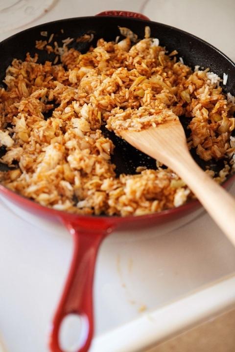 kimchi fried rice pan