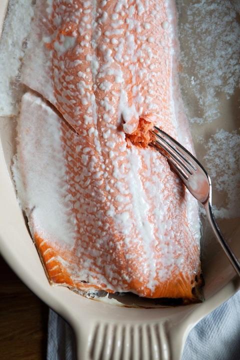 salmon poached