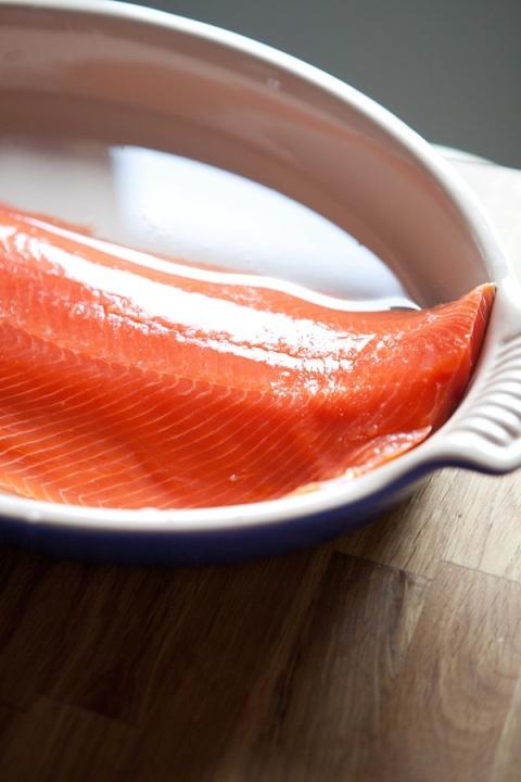 salmon poaching dish