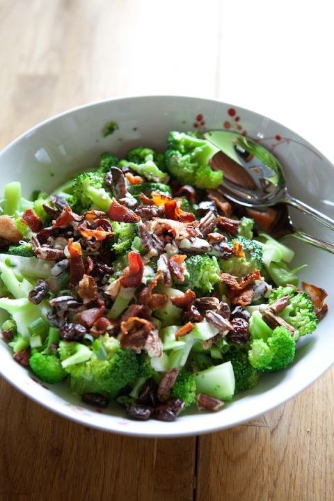 broccoli salad dressed