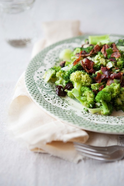 broccoli salad with bacon plated 1