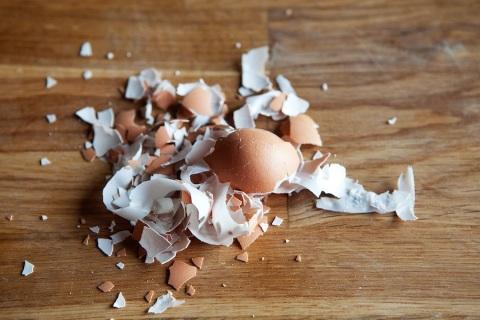 hard boiled egg shells