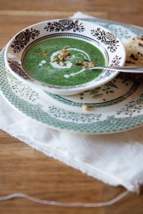 spinach pine nut soup 3