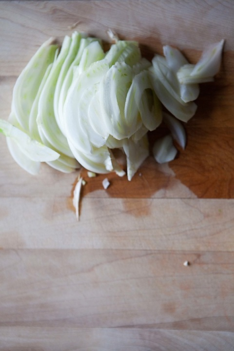 sliced fennel for grapefruit salad